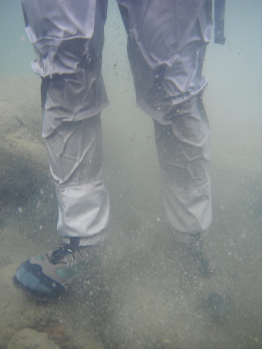 Water pressure on my waders
