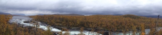 Panorama of the water-fall near our camping site